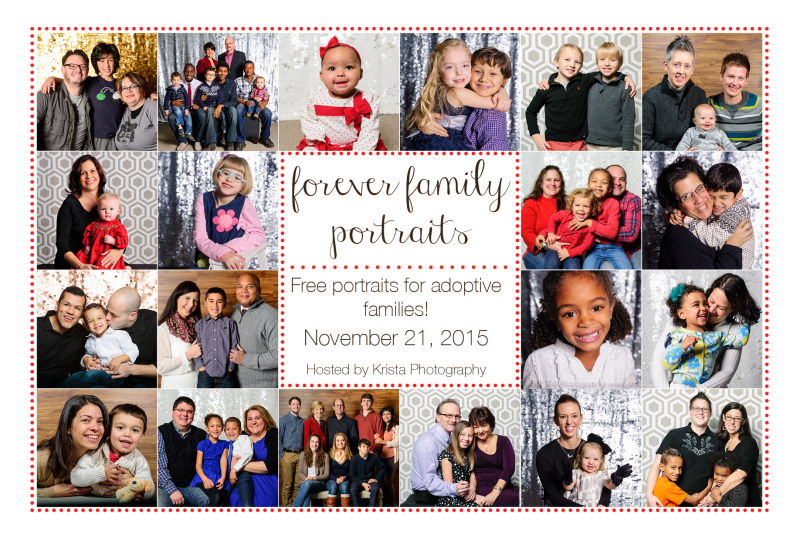forever family adoption portraits love