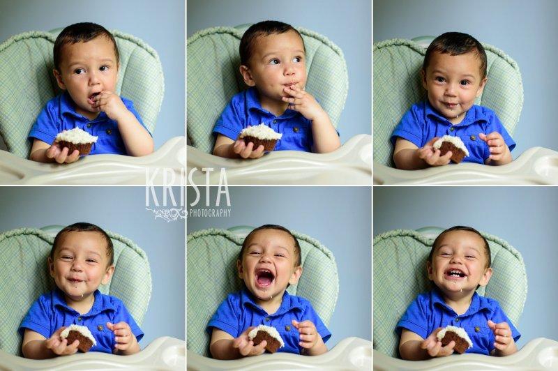 Baby Boy Cake Smash, First Birthday, © Krista Photography www.kristaphoto.com