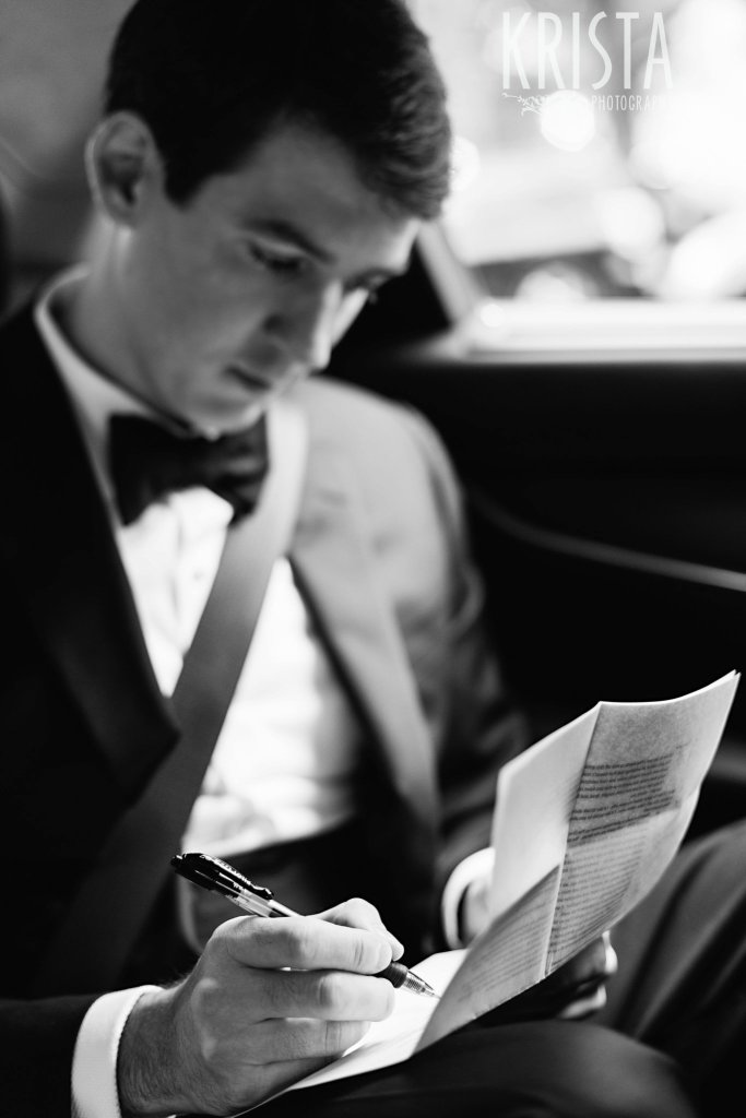 Elegant Boston Wedding. Getting Ready and Bride & Groom portraits on Beacon Hill, ceremony at Harvard Memorial Church, and reception at the Harvard Art Museums. © Krista Photography, Boston Wedding Photographers. Please note the Pilot G2 pen... ;)
