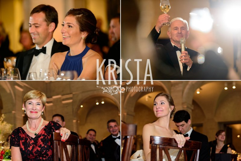 Toasts. Elegant Boston Wedding. Getting Ready and Bride & Groom portraits on Beacon Hill, ceremony at Harvard Memorial Church, and reception at the Harvard Art Museums. © Krista Photography, Boston Wedding Photographers