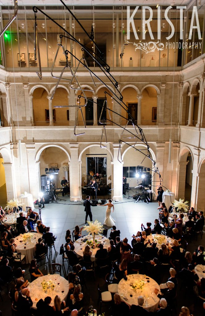 First Dance at the Harvard Art Museums. Elegant Boston Wedding by © Krista Photography, Boston Wedding Photographers