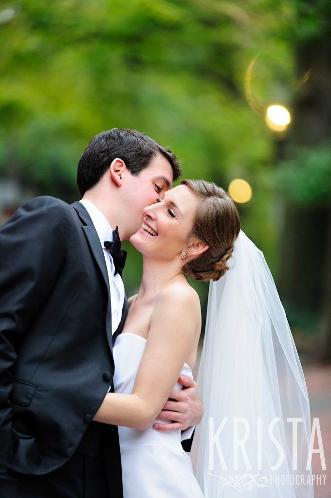 Bride & Groom portraits on Beacon Hill, ceremony at Harvard Memorial Church, and reception at the Harvard Art Museums. Photo by Krista Photography, Boston Wedding Photographers