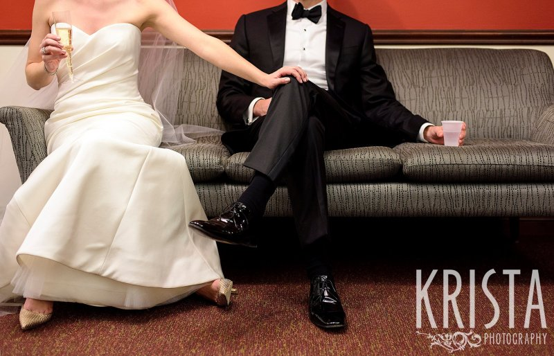 Red, White & Black. Elegant Boston Wedding. Getting Ready and Bride & Groom portraits on Beacon Hill, ceremony at Harvard Memorial Church, and reception at the Harvard Art Museums. © Krista Photography, Boston Wedding Photographers
