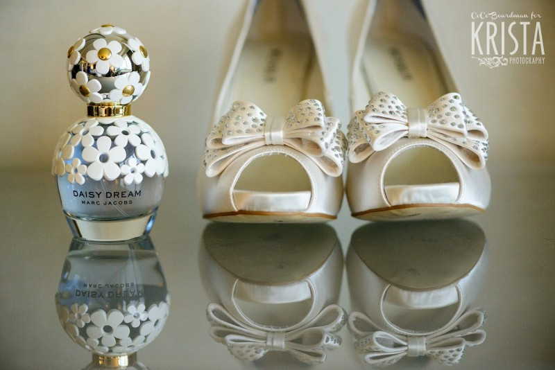 marc jacobs prefum and wedding shoes © Krista Photography