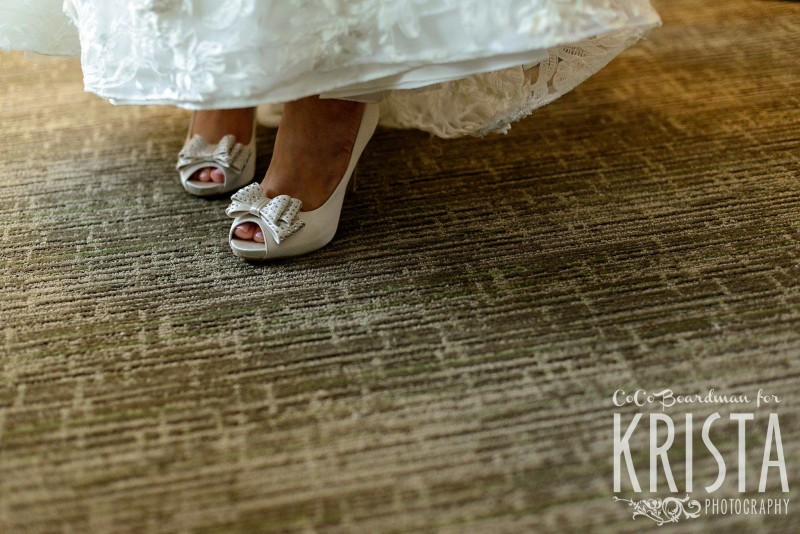 bride and her shoes © Krista Photography