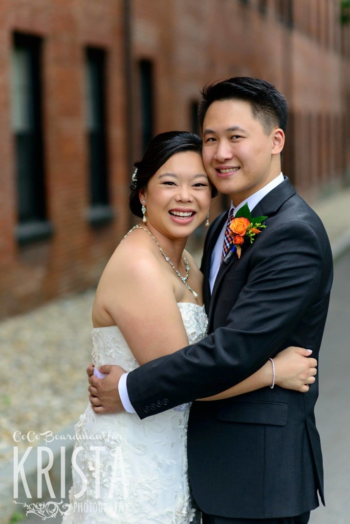 happy bride and groom © Krista Photography