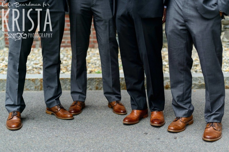 groomsmen and their shoes © Krista Photography