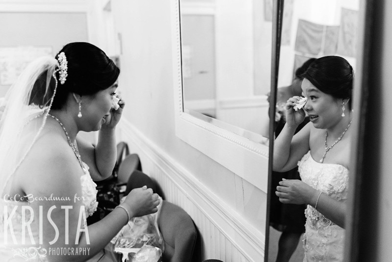 happy tears from the bride © Krista Photography