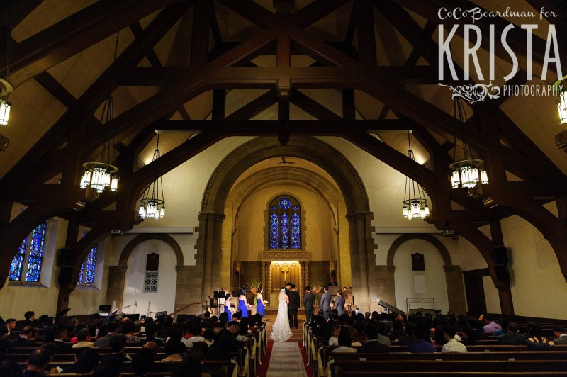 beautiful wedding chapel © Krista Photography