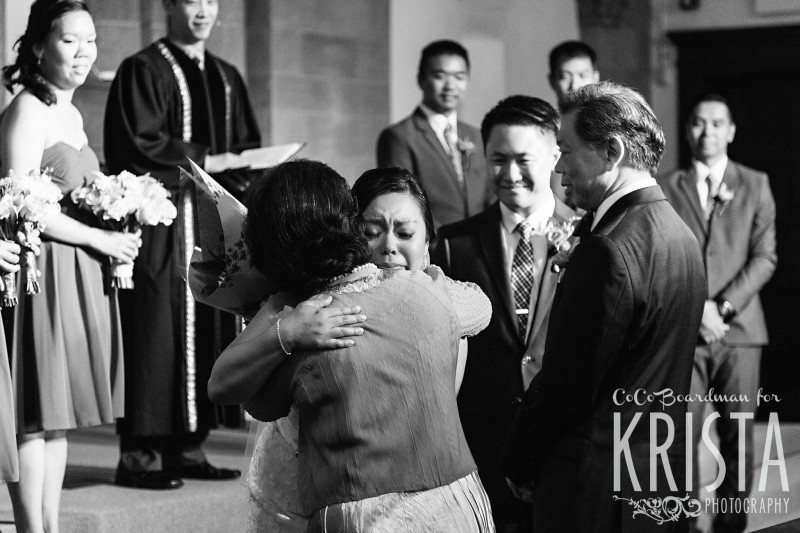 tears of joy and happiness from the bride © Krista Photography
