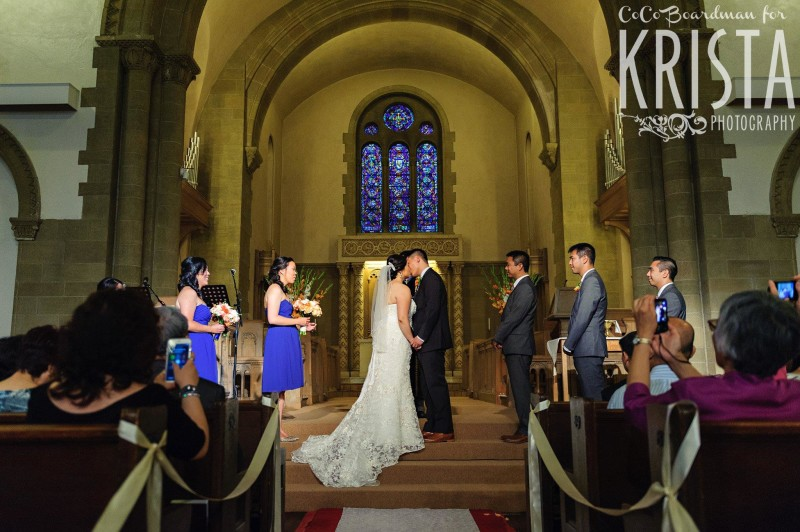 the perfect kiss from bride and groom © Krista Photography