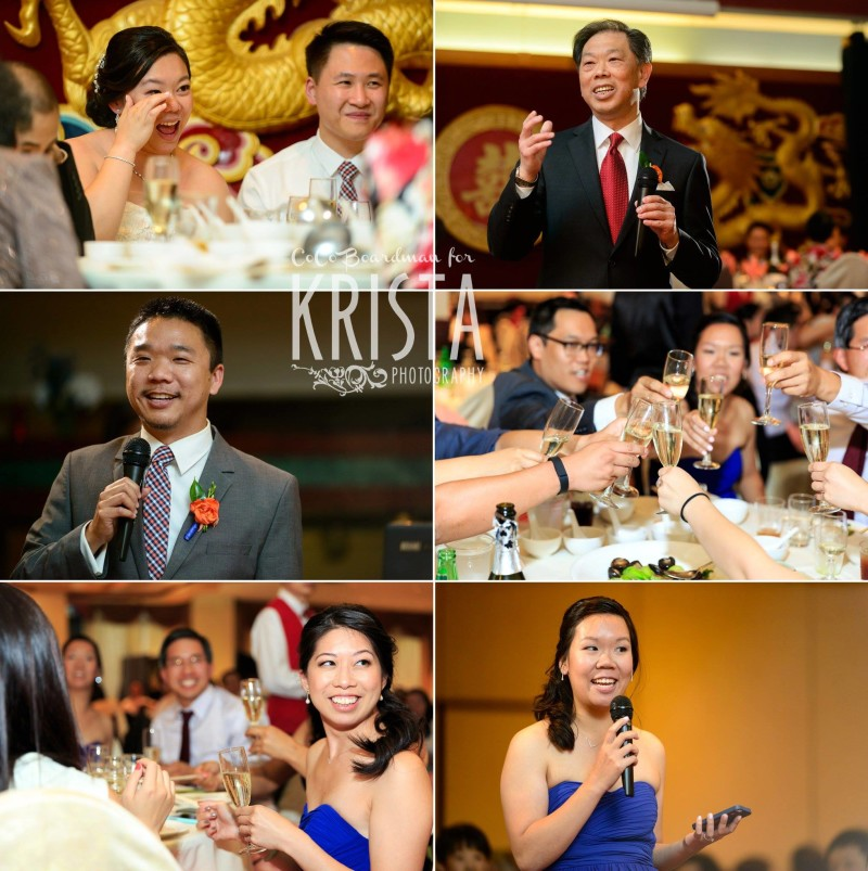 toasts to the bride and groom © Krista Photography