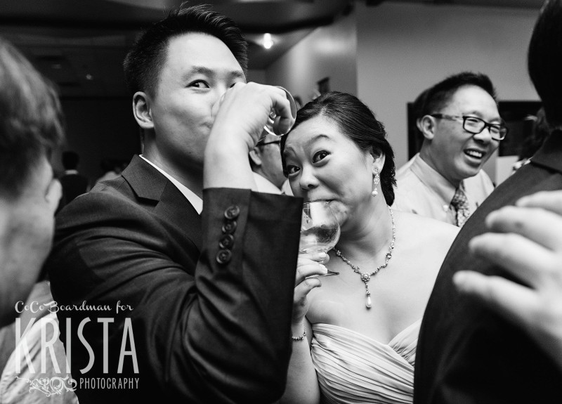 funny moments from bride and groom © Krista Photography