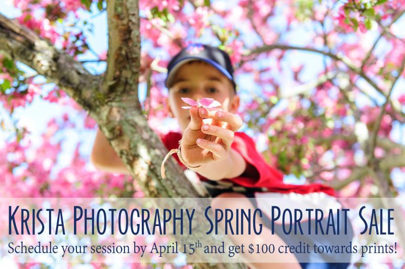 Krista Photography Spring Portrait Sale - Boston family photographer