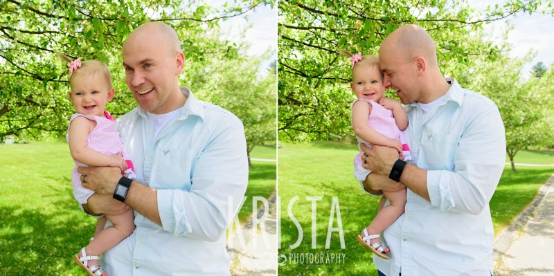 Baby Girl, Year in the Life, Happy Baby, Smiles, Daddy and Daughter, © Krista Photography, Boston Photographer