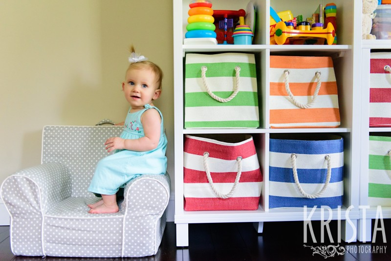 Baby Girl, Year in the Life, Happy Baby, Smiles, Playroom, © Krista Photography, Boston Photographer