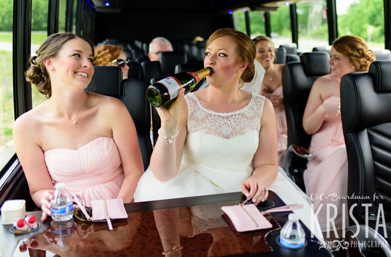 Starting the party with the bride and her bridal party. © 2016 Krista Photography - www.kristaphoto.com