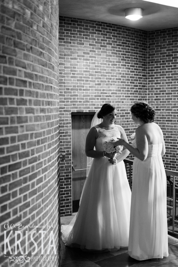 Moments between the bride and her sister. © 2016 Krista Photography - www.kristaphoto.com
