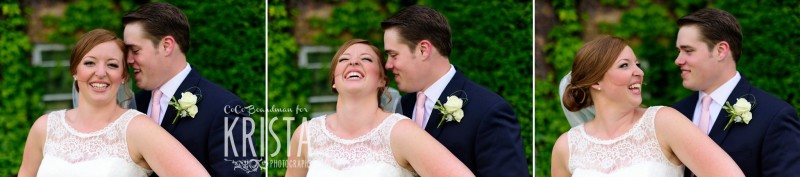 Sweet moments of laughter and hugs from the bride and groom. © 2016 Krista Photography - www.kristaphoto.com