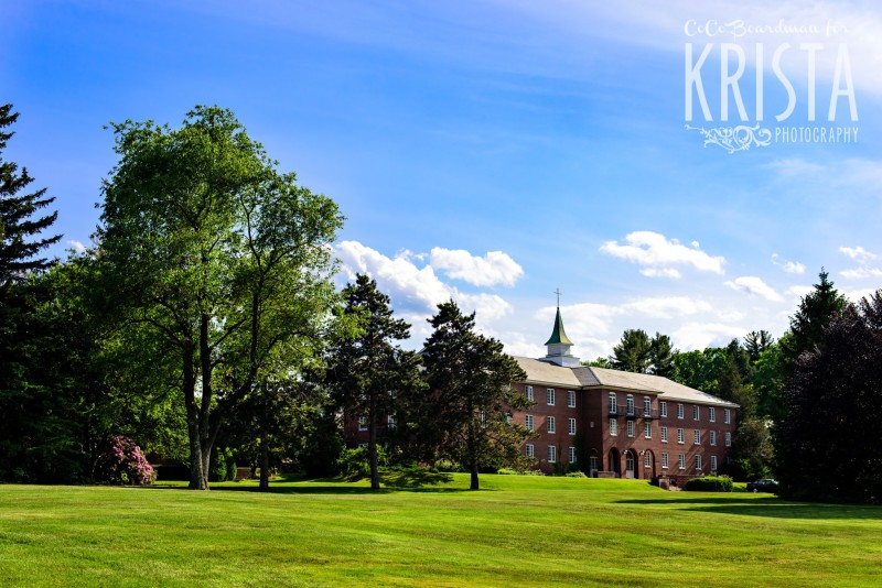 Beautiful day for a wedding at St. Anselm College. © 2016 Krista Photography - www.kristaphoto.com