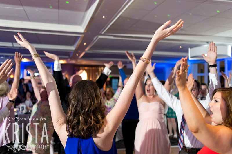 A little YMCA dance on the dance floor. © 2016 Krista Photography - www.kristaphoto.com