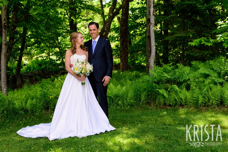 Bride & Groom Portraits - Mountain Top Inn, Vermont.  Vermont Wedding Photographer.  © Krista Photography - www.kristaphoto.com