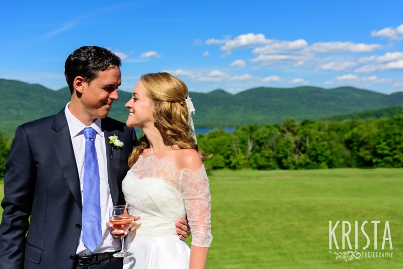 Bride & Groom Portraits.  Mountain Top Inn.  Vermont Wedding Photographer. © Krista Photography - www.kristaphoto.com