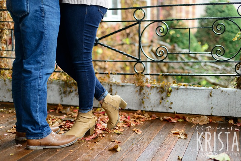 boots, wood, and jeans at St. Anselm College - Saint Anselm Engagement