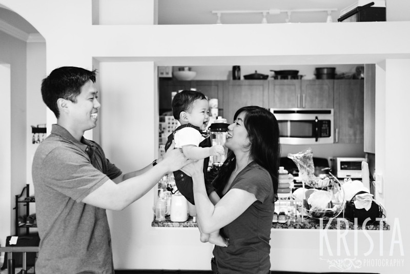 Playing with Mom & Dad. One Year Portraits, First Birthday. Boston Family Photographer, Krista Guenin. © Krista Photography - www.kristaphoto.com