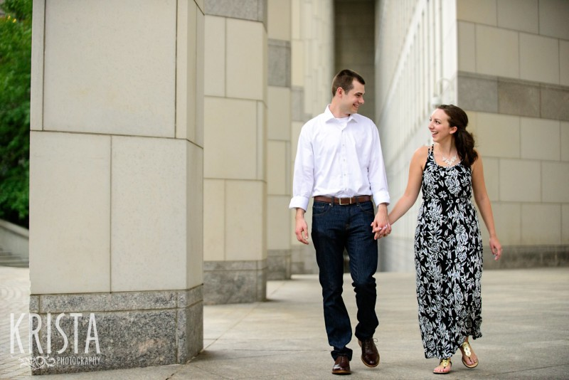 Boston Engagement Session at the Edward Brooke Courthouse  - © 2016 Krista Guenin / Krista Photography - www.kristaphoto.com - Boston Wedding Photographer