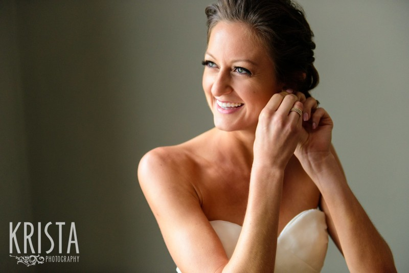 Gorgeous bride getting ready for her wedding. Boston Wedding Photographer © Krista Photography - www.kristaphoto.com