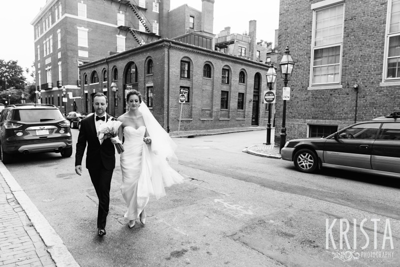 First Look - Beacon Hill Wedding. © Krista Photography, Boston Wedding Photographer - www.kristaphoto.com
