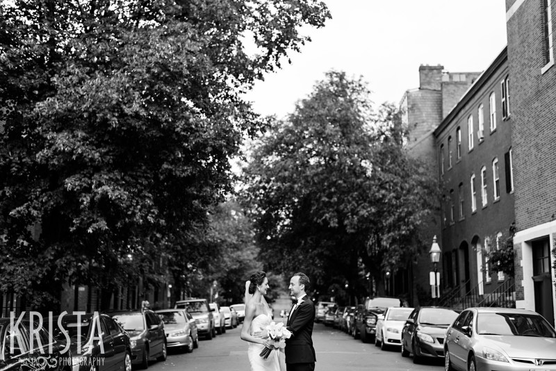 Bride & Groom Portraits, Beacon Hill Wedding. © Krista Photography, Boston Wedding Photographer - www.kristaphoto.com