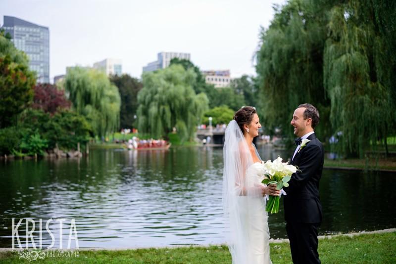 Bride & Groom Portraits in Boston Public Gardens. © Krista Photography, Boston Wedding Photographer - www.kristaphoto.com