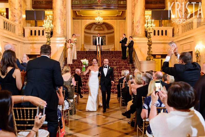 Married! Wang Theater Wedding © Krista Photography, Boston Wedding Photographer - www.kristaphoto.com